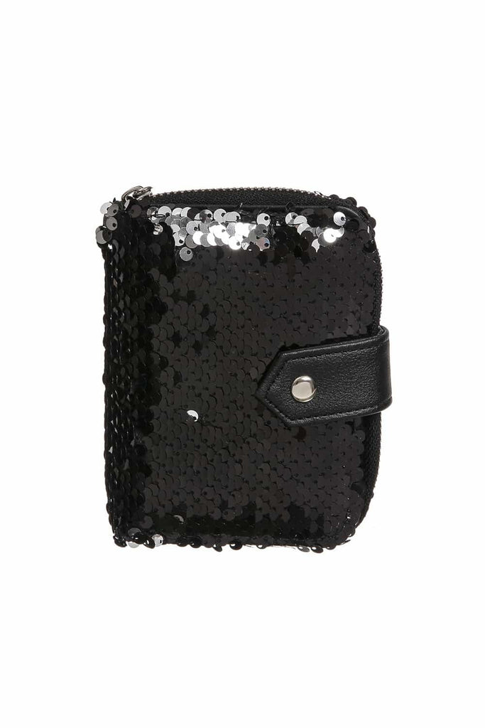 Black Sequin Wallet | Funky Fish