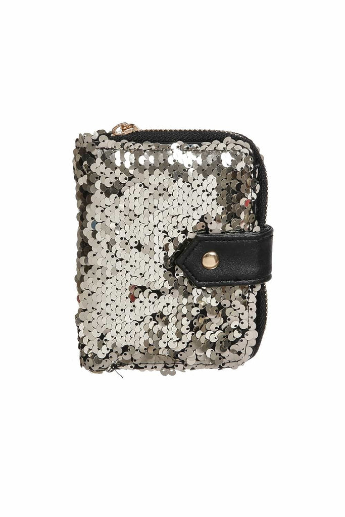 Gold Sequin Wallet | Funky Fish