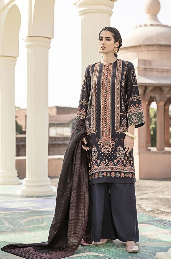 Cross Stitch Dastaan Shawl Collection'20 MUGHAL STERLING SKU:1000000118540