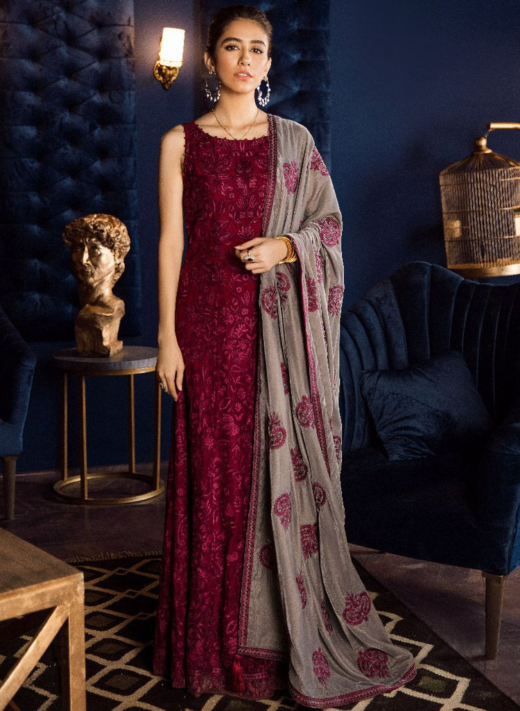 Iznik Velvet Collection'19 IFV -06 Mulberry (3PC)
