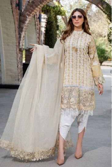 2446-MINT-JULIP EMBROIDERED LAWN UNSTITCHED
