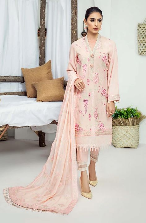 Serene Premuim Karandi Winter Collection'20 SP-K10 Rosado Flowert