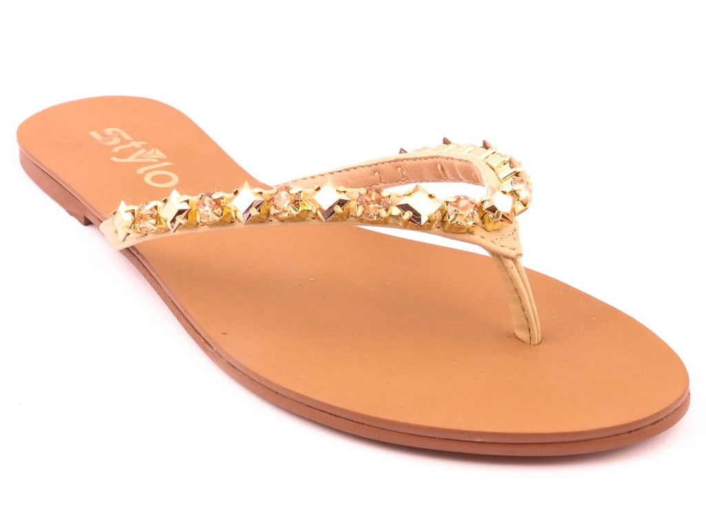 ff9aae145d8ac Stylo Bridal Collection -18 BEIGE FANCY CHAPPALS