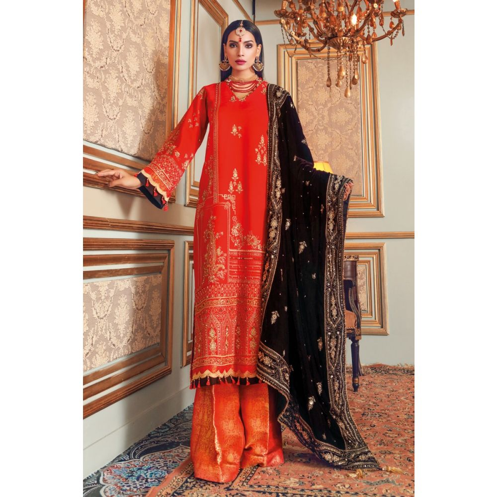 Gul-Ahmed Maahru Collection 3 PC Hand Embroidered PRW-06 SKU# W-FB-PWM-20-227723