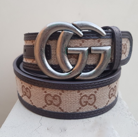 Gucci Grey buckle with multicolor belt