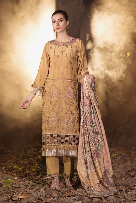 Motifz Embroidered Silk Karandi Unstitched