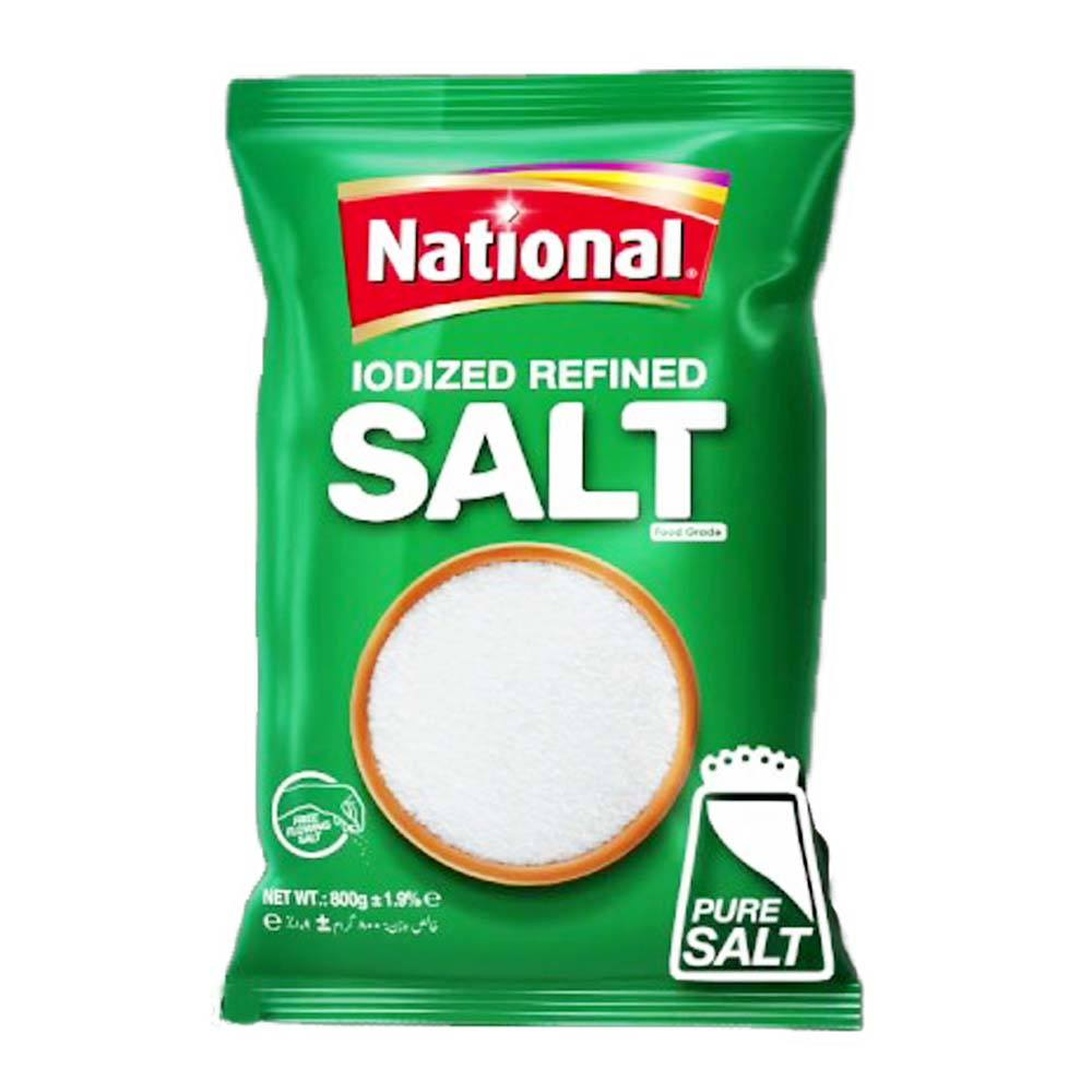 NATIONAL IODIZED REFINED SALT 800 GMS