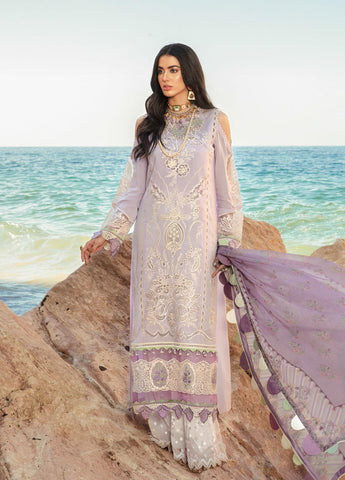3 Piece Embroidered Unstitched Suits from Noor Luxury Lawn