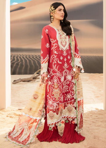 Noor by Saadia Asad Embroidered Lawn Suits Unstitched 3 Piece SA21NL 9A - SKU: 337861