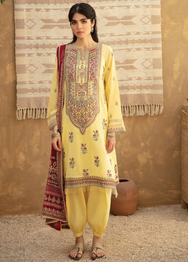 3 Piece Embroidered Unstitched Suits from Qalamkar Qline Lawn