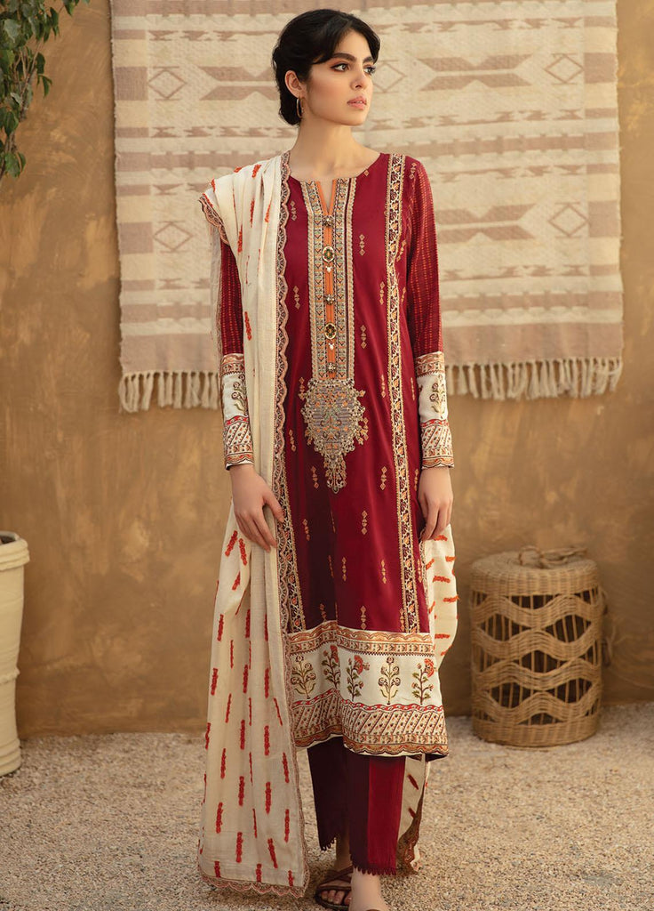 Qline By Qalamkar Embroidered Lawn Suits Unstitched 3 Piece QLM21Q 14 Haseena