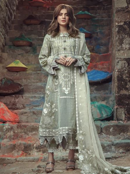 Roxanne By Serene Premium Lawn Collection'2020 SL-06 Luna