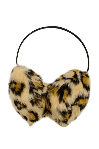 Animal Print Furry Ear Muffs  | Funky Fish