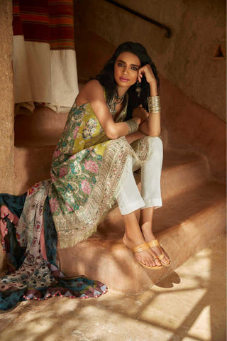 Zara Shahjahan Lawn Collection'19 SKU : SAHARA-A