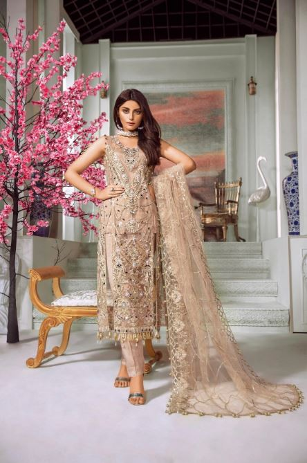 Maryum N Maria Premium Chiffon Collection'2020 Peach Flinch(MMC-08)