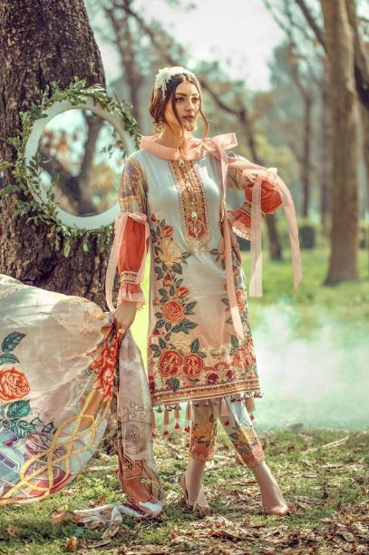 Adan's Libas Floral Fantasies Premium Embroidered Lawn Collection'20 CINDERELLA