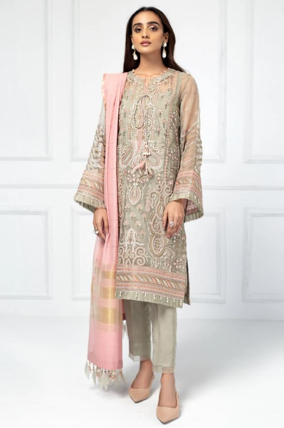 Jazmin Embroidered Chiffon Luxury Formal Edition'20 Pearl Blush