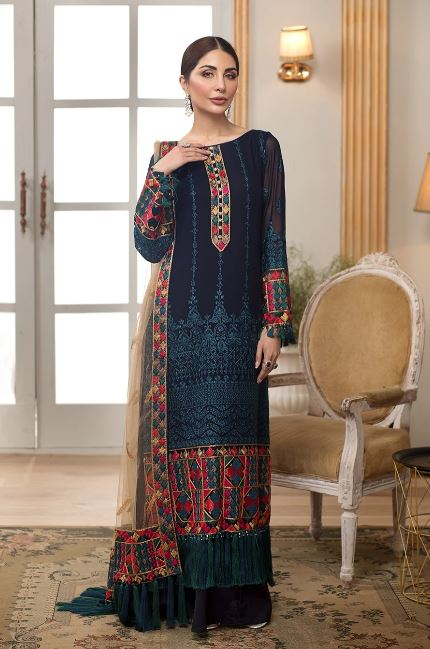 Sangat By Mohagni Chiffon Collection'20 DD-20-07 (BLUE)