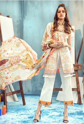 Rungrez Renaissance Spring/Summer Lawn Collection'20 MUSE