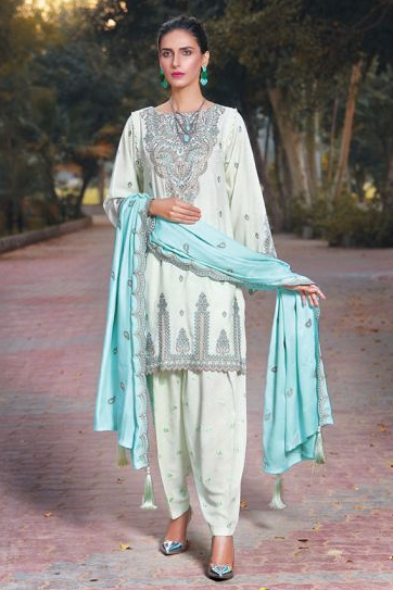 Amal By Motifz Winter Collection'19 2409-FOLK-JADE