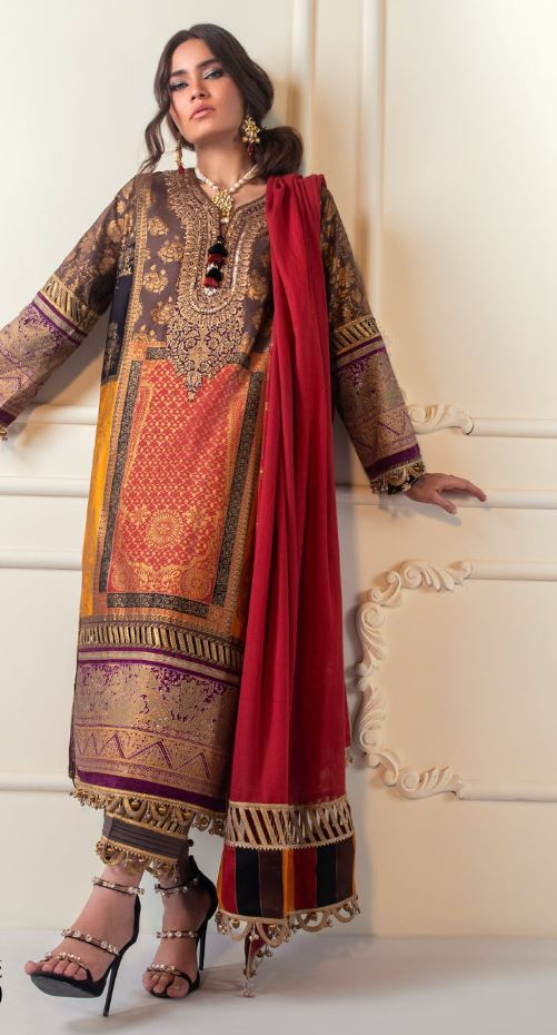 Sana Safinaz Block Print Karnool Collection'20 Code: 6A (3 Piece)