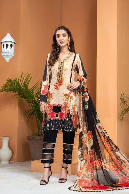 Mohagni Shamira Vol-1 Linen Collection'20 LSB-01 SKU: 0LSB01-999-999