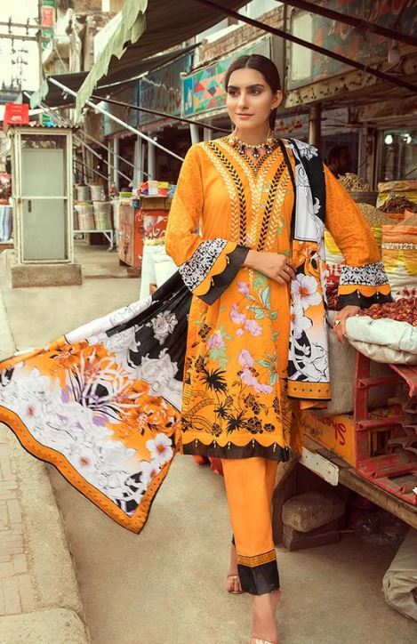 Al Zohaib Rung Embroidered Collection'2020 RNE20-01B