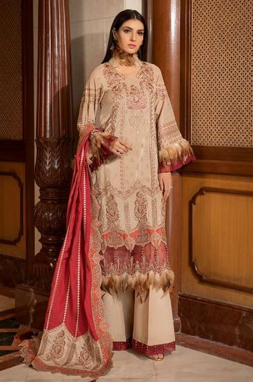 Motifz Premuim Embroidery 2374-ETHNIC-EDTORE EMBROIDERED KARANDI UNSTITCHED