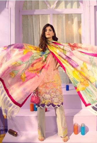 Rungrez Renaissance Spring/Summer Lawn Collection'20 MISTY PINK