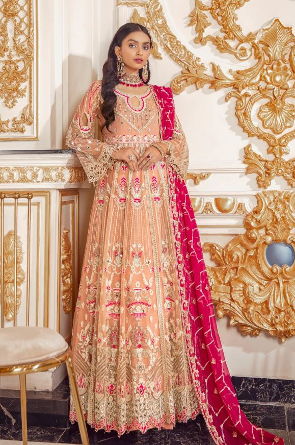 Emaan Adeel Belle Robe Wedding Edition'20 BR-04 BERRY SORBET