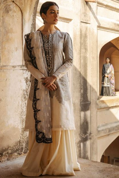 Zara Shahjahan Lawn Collection'20 SKU: MUMTAZ-B