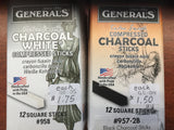 General's - Compressed Charcoal Sticks/pencil 2B