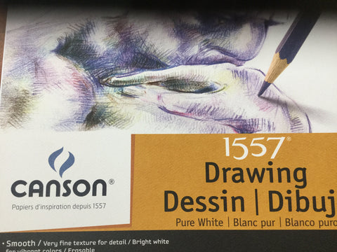 Canson - 1557 Drawing Smooth, bright white spiral bond