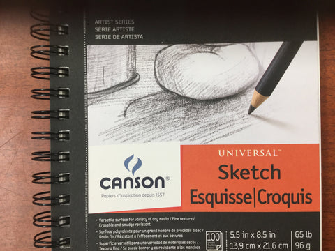 Carson Universal Sketch 65 lb 100 sheet book micro perforated
