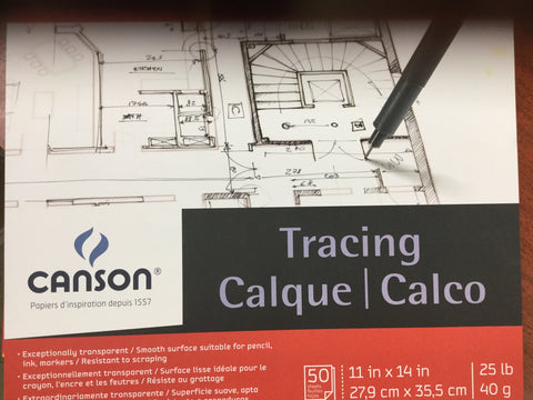 Canson-tracing pad 25lb. 50 sheets