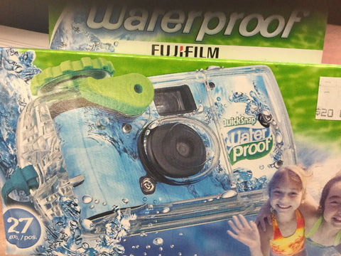 Waterproof one time use camera