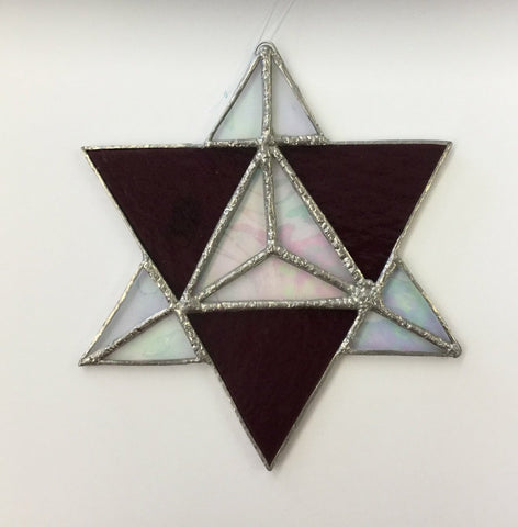 Star stained glass 6 1/4inch