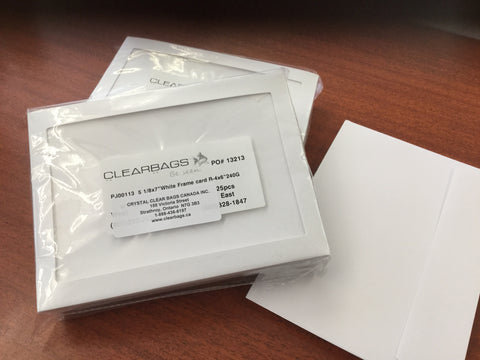 Crystal Clear Cards & Envelopes 5 1/8x7 inches with half inch matte