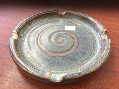 Ash tray stoneware pottery by Diane