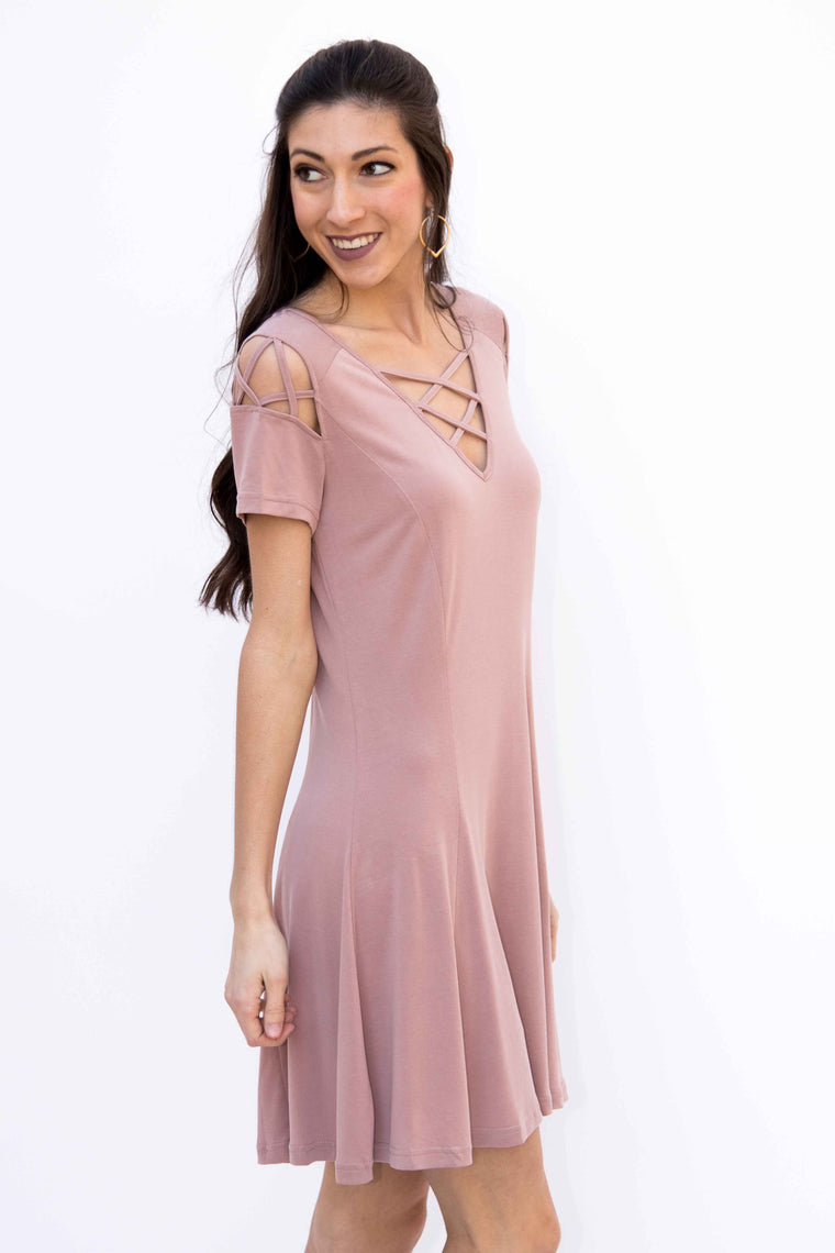 Under Your Spell, Swing Modal Dress - Dusty Rose