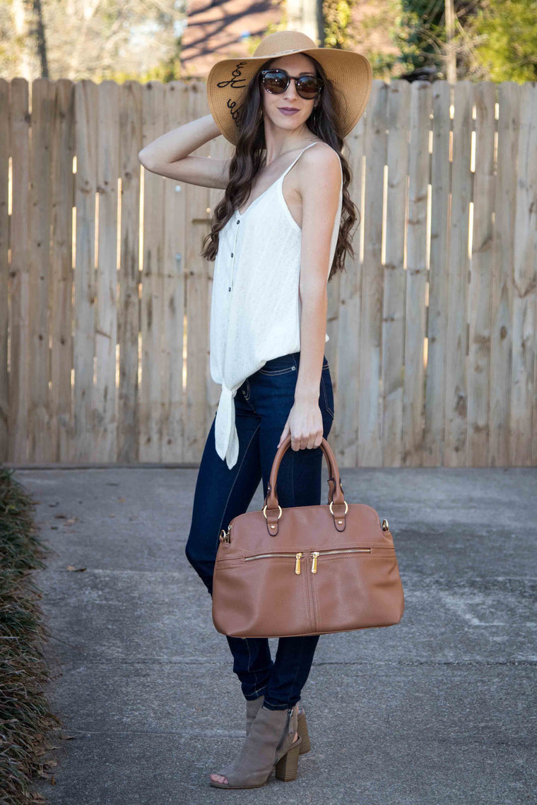 Spring Ready, Tank Top - Ivory - Amarello Boutique