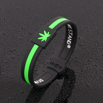Cannabis Silicone Wristband - Divided We Stand® Political & Social Gear