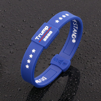 Blue Trump 2020 Lifetime Quality Wristband FREE Shipping - Divided We Stand® Political & Social Gear