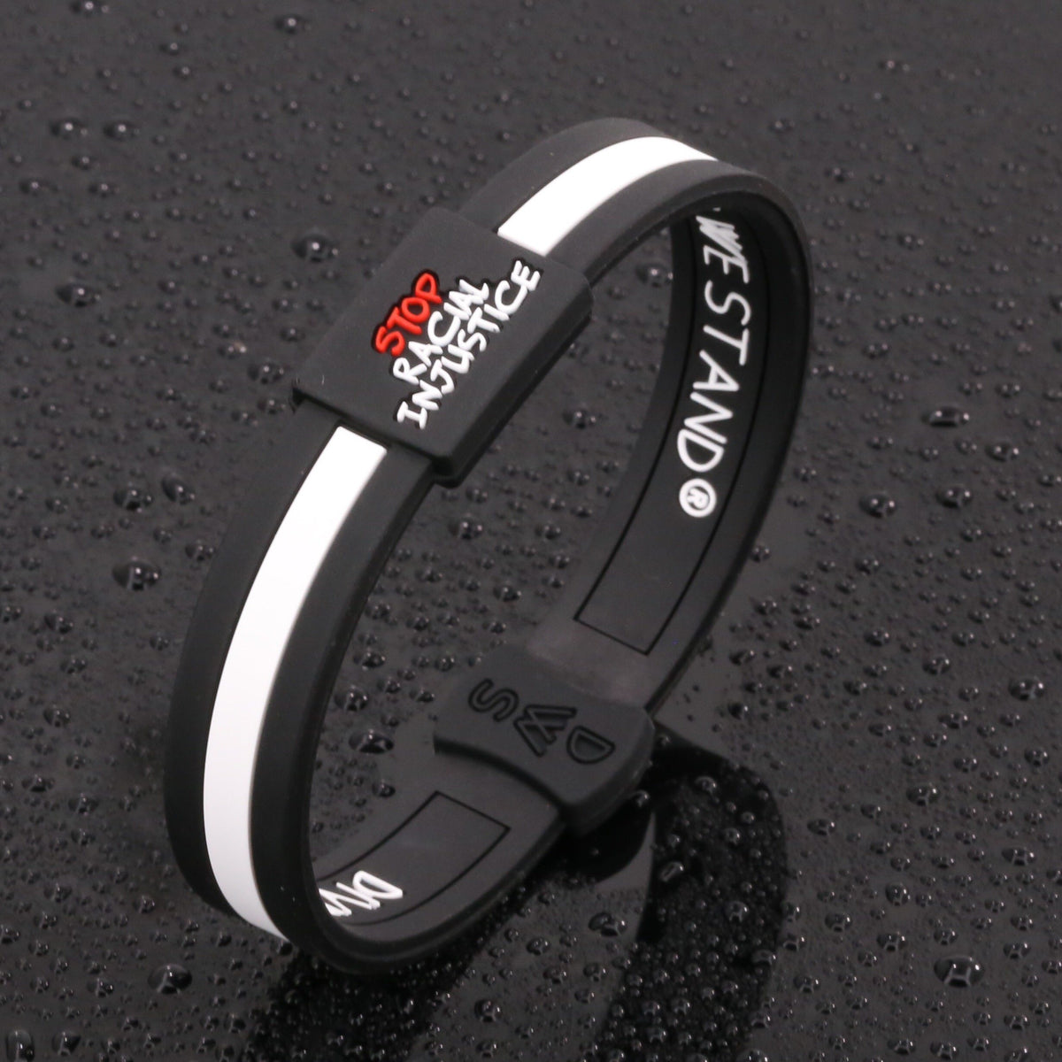Stop Racial Injustice Lifetime Quality Wristband FREE Shipping - Divided We Stand® Political & Social Gear