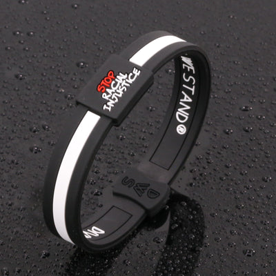 Stop Racial Injustice Silicone Wristband - Divided We Stand® Political & Social Gear