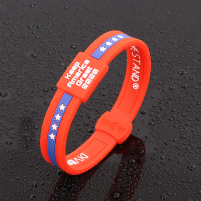 Red KAG 2020 Lifetime Quality Wristband FREE Shipping - Divided We Stand® Political & Social Gear