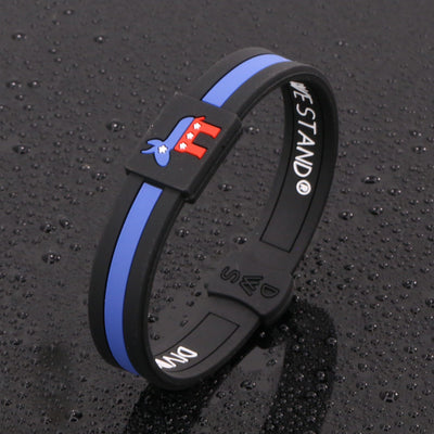 Democratic Party Silicone Wristband - Divided We Stand® Political & Social Gear
