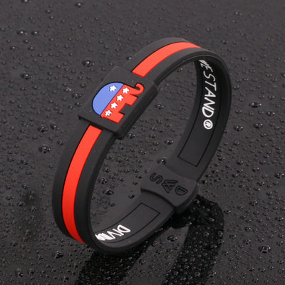 Republican Party Silicone Wristband - Divided We Stand® Political & Social Gear