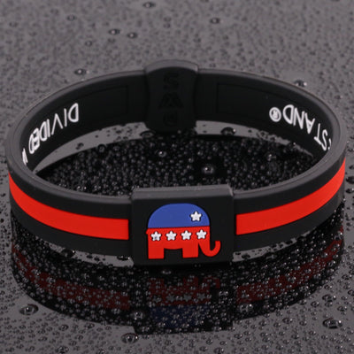 Republican Party Lifetime Quality Wristband FREE Shipping - Divided We Stand® Political & Social Gear