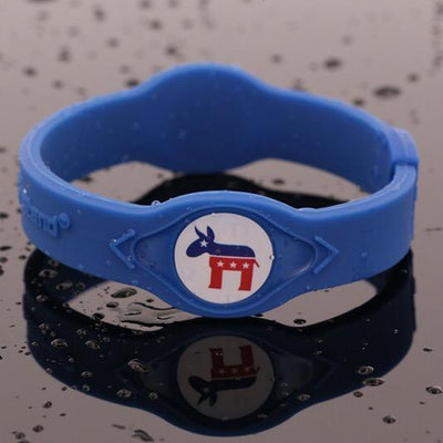 Democratic Party Hologram Silicone Band - Divided We Stand® Political & Social Gear